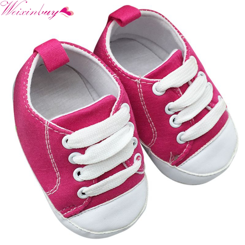 Baby Boy Girls Shoes T-tied Infant Toddler Soft Soled Anti-slip Newborn Baby Canvas Shoes First Walkers 18 soft baby boy girl shoes autumn winter cotton infant toddler anti slip first walkers cute slippers prewalker shoes for children