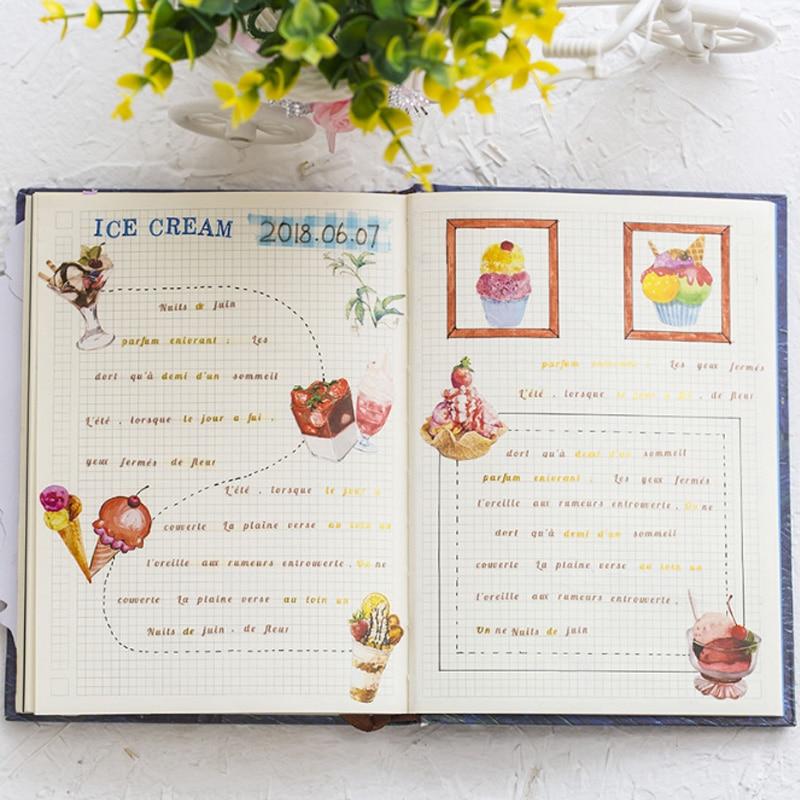 Купить с кэшбэком 50 pcs/lbox  Ice cream mini paper sticker decoration stickers DIY Notebook Ablum diary scrapbooking label sticker stationery