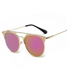Fashion Retro Round Cat Eye Sunglasses Men Women Designer Eyewear Metal Frame UV400 Glasses oculos de sol lunette de soleil