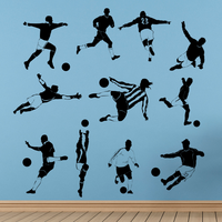 Football Soccer Star Goalkeeper Catch The Ball Sketch Fashion Wedding Decor Wall Sticker Bedroom Wallpaper Wall Decal Room Decor