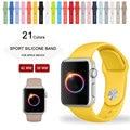 2016 nova amarelo cinta esporte para apple watch band para apple watch band silicone novas cores