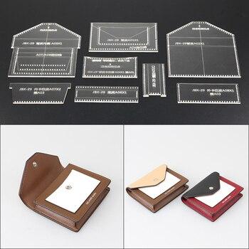 76359d8a6 1 Unidades arte de DIY de cuero de costura patrón de bolso de hombro acrílico  plantilla 12,5*9*2 cm