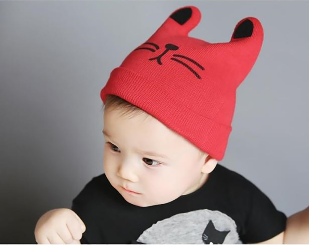 VBIGER Children Kids Baby Cartoon Beanies Skullies Winter Warm Knitted Hat Cap with Ears for Boy Girl skullies