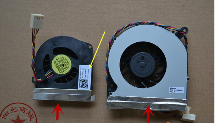 SSEA New wholesale CPU+GPU Cooling fan For DELL Inspiron One 2305 2310 all-in-one Fan Free shipping dell inspiron 3558