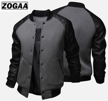 ZOGAA 2018 New Mens Jacket Large Pockets Coats and Jackets Slim Button Decoration Baseball Street Wear Plus Size Clothes