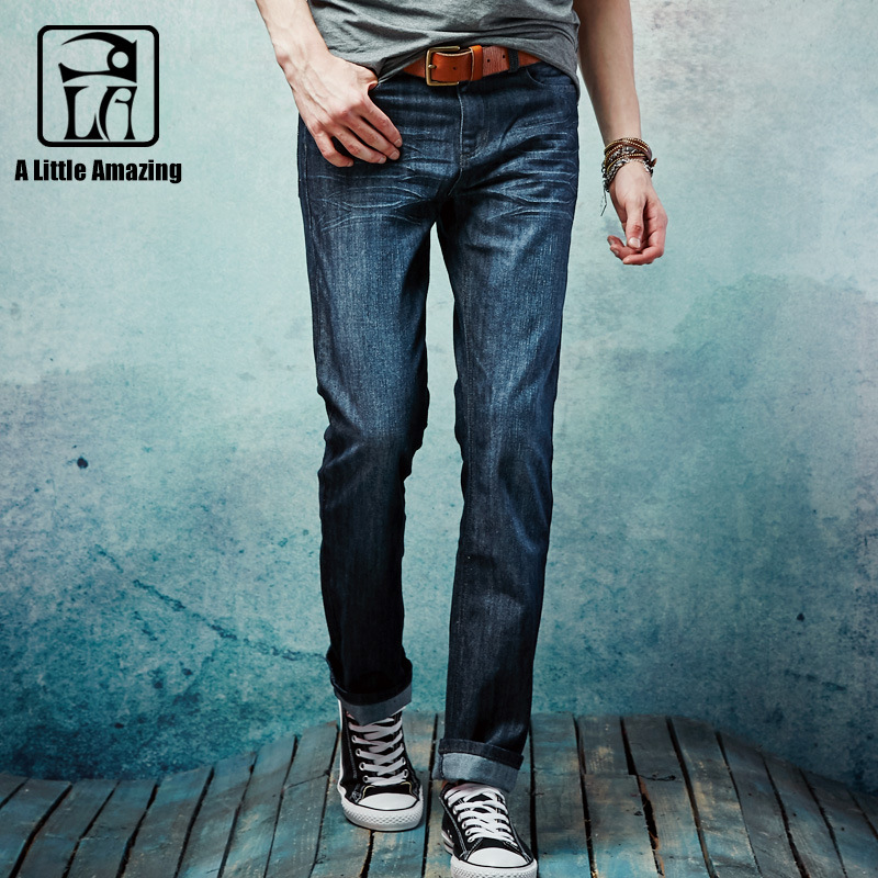 new arrival skinny jeans for men autumn casual long trousers straight cotton mens jeans luxury Brand High Quality Men Jeans