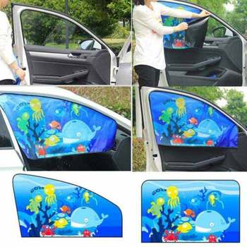 car-styling Car Side Sunshade Cartoon Curtain Window Sun Curtain For Boys Kids Curtains Cars Rear Side Car Accessories image