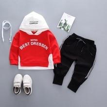 цена на New Spring Autumn Children Baby Boys Girls Clothing Cotton Infant Hoodies Sweatshirt Pants 2Pcs/Sets Fashion Toddler Sport Suits