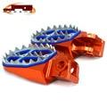 Orange Motorcycle Bike Offroad Motard Billet CNC Foot Pegs pedals CAKEN Foot rests For KTM 65-990 all models except 690