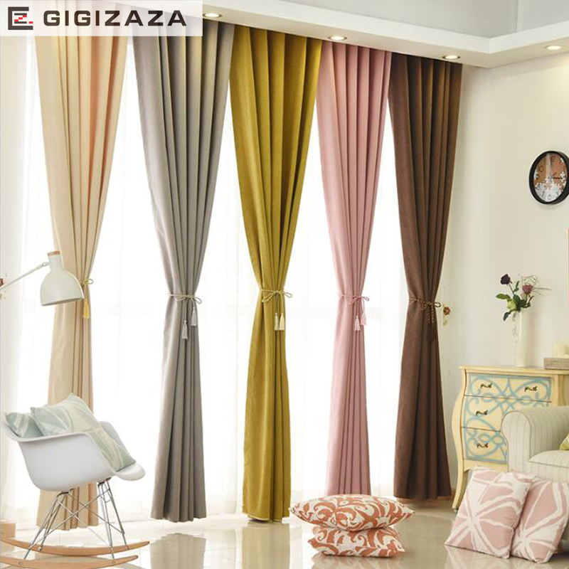 GIGIZAZA Noir Jacquard Lourde Haut Stores Ivoire Gris Black Out Rideaux  Pour Salon Décoration Drapé Cortina ...