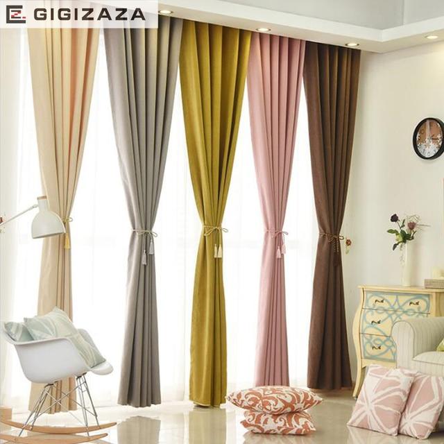 GIGIZAZA Toucher Doux Solide Rayonne Coton Stores Marron Gris Noir ...