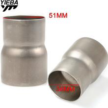 цена на 36MM 51MM Universal Exhaust Adapter Reducer Connector Pipe Tube FOR Ducati 796 MONSTER 696 MONSTER 999/S/R 749/S/R Buell 1125R