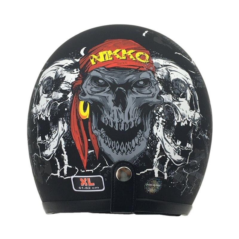 THH Harley Vintage moto rcycle casque Jet scooter rétro casques 3/4 face ouverte rétro casco demi-visage casque moto casques