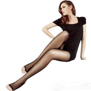 Buy Open Toe Pantyhose Sexy Women Tights Sheer Ultra Thin Slim Female Stockings Transparent Collant Spring Autumn 5 Pairs/lot CI372