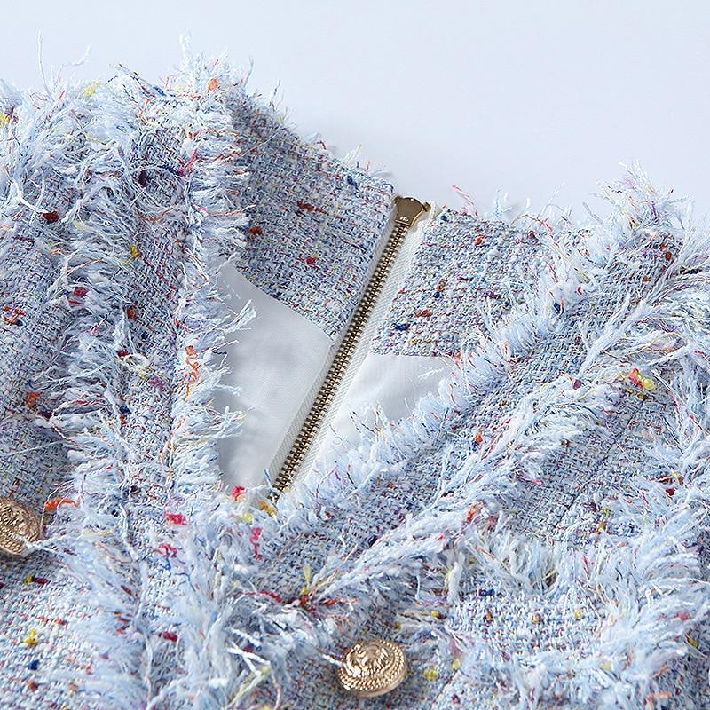 Gland Manches Gris En 2018 Rue Euramerican Haute Métal Sans Nouvelle Mode ligne Printemps A Robe Été Double Réservoir Dame Polyester Bouton CdrWxoeB
