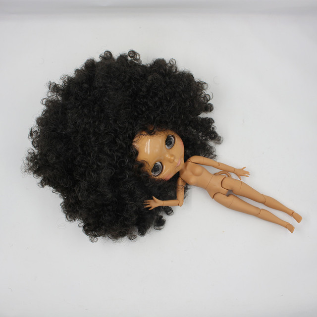 TBL Neo Blythe Doll Black Curly Hair Jointed Ara