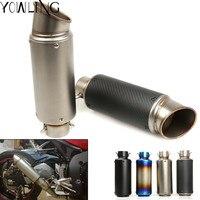 Motorcycle modified muffler carbon fiber exhaust pipe For SUZUKI GSF Bandit 650 650S 1000 1200 1250 SV650 GSXR ninja300 MT 07 R1