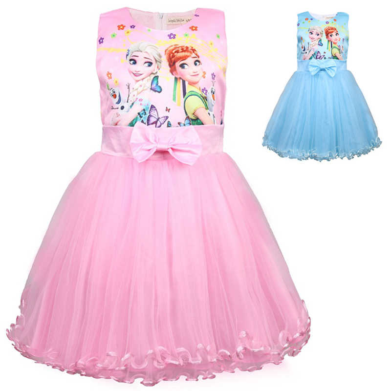 Detail Feedback Questions About Summer Anna Elsa Girls Dresses Snow Queen  Dress Vestidos Butterfly Flower Elegant Dress Kids Halloween Costume  Princess ...