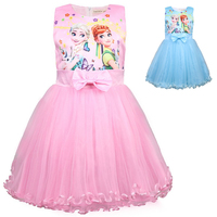Summer Anna Elsa Girls Dresses Snow Queen Dress Vestidos Butterfly Flower Elegant Dress Kids Halloween Costume Princess Dress