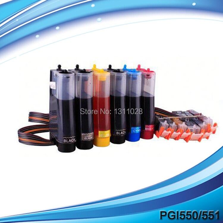 ᗗENCRE FAÇON PGI-550 CLI-551 d alimentation en encre système, 6C ... fcffe4bc082
