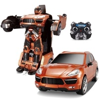 New Hot JIAQI TT664 2.4G RC Remote Control Deformation Robot RC Car Cayenne SUV robot car action figures class Boys Gift