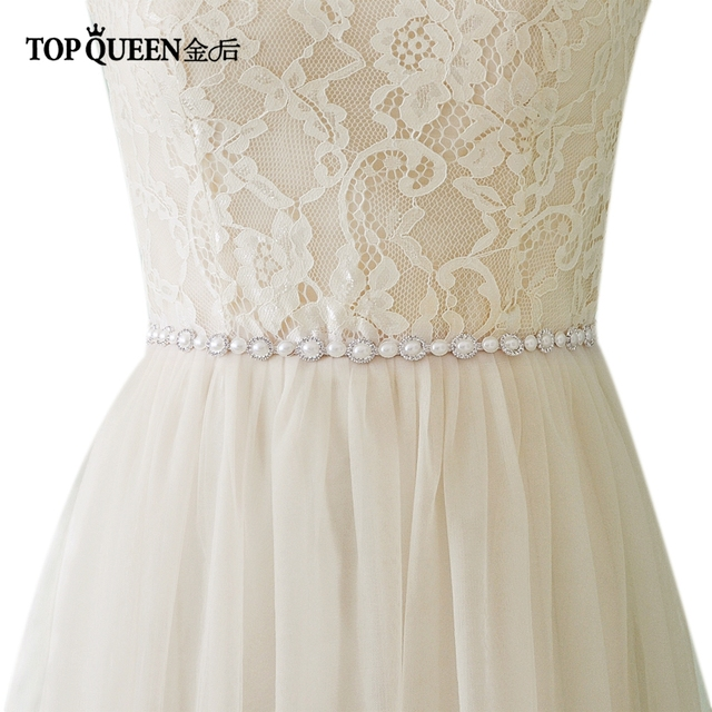Topqueen S300 Wedding Belts Rhinestones Sashes For Pearl Bridal Fast Delivery