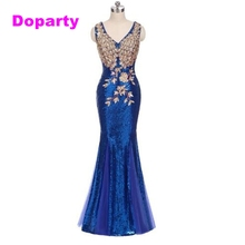 Doparty XS2 2017 long blue sequin red mermaid dubai sweetheart elegant floor length evening dresses gown wear for wedding guests