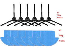 12 шт./компл. iLife v7s iLife v7s Pro робот Запчасти для пылесоса Kit (mop ткани * 6 + сбоку Кисточки * 6) chuwi iLife v7s Pro