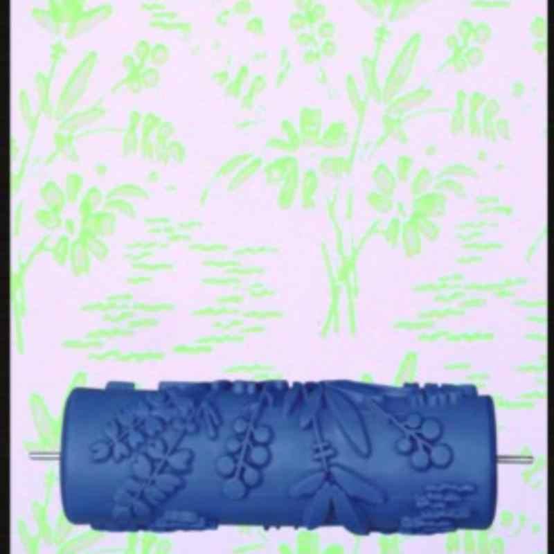 DIY rodillo de goma en relieve pintura rodillo manga pared textura plantilla brocha