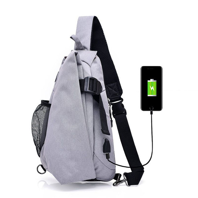 AiiaBestProducts - Fashion Brand Canvas Men Chest Pack Crossbody Bag Casual