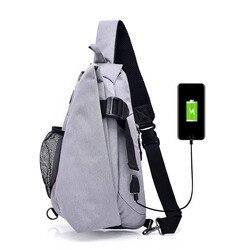 Mochila de lona de marca de moda para hombre, mochila de viaje Casual, mochila para el pecho, Bolso pequeño, bandolera para hombre, mochila negra