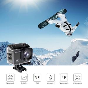 Image 5 - Ir pro acessórios ultra hd 4 k esporte ação câmera de vídeo wi fi 30fps 170d à prova dwaterproof água cam cabeça cinta peito cinto câmera gravador