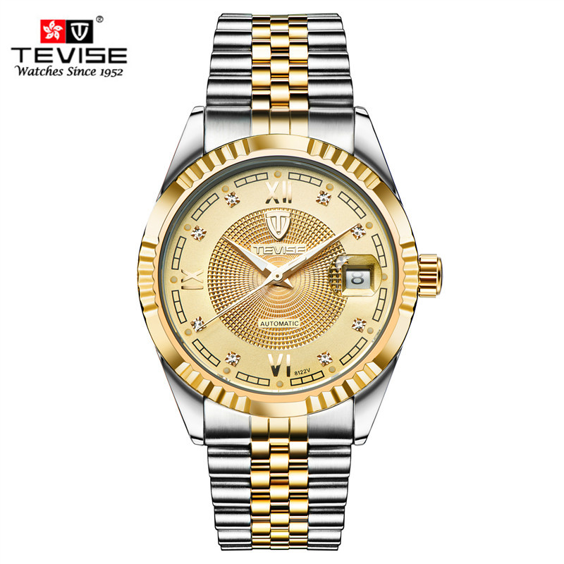 Men Watches 2016 TEVISE Waterproof Automatic Mechanical Watch  Luxury Brand Gold Diamond Wristwatches Top relogio masculinoMen Watches 2016 TEVISE Waterproof Automatic Mechanical Watch  Luxury Brand Gold Diamond Wristwatches Top relogio masculino