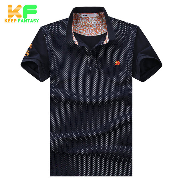 Polka Dot Men Polo Shirt Fashion Brand-Clothing Turn-Down Collar Short Sleeve Cotton Polo Homme Camisas Masculina MPTS1522