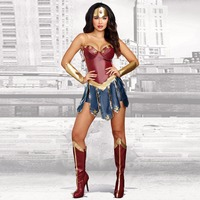2017 New Wonder Woman Cosplay Costumes Adult Dawn Of Justice Superhero Costume For Halloween Fancy Dress