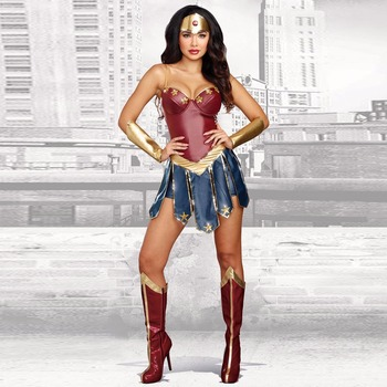 VASHEJIANG Wonder Woman Cosplay Adult Dawn of Justice Superhero Costume for Halloween Fancy Uniform Princess Diana Cosplay цена 2017