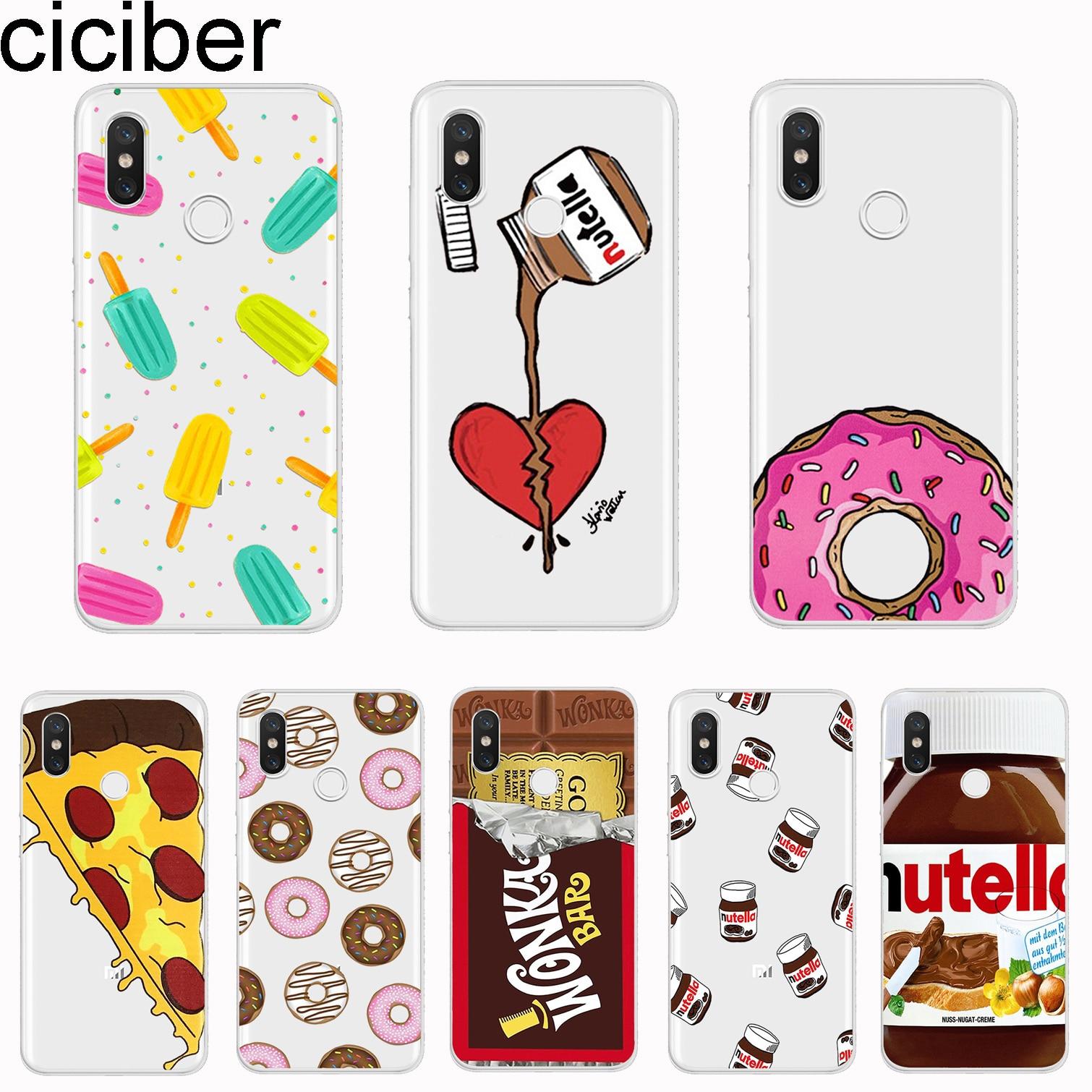 6235ef1946 ciciber For Xiaomi MIX MAX 3 2 1 S Pro MI A2 A1 9 8 6 5 X 5C 5S Plus Lite  SE Pocophone F1 Phone Cases Soft TPU Donuts Chocolate