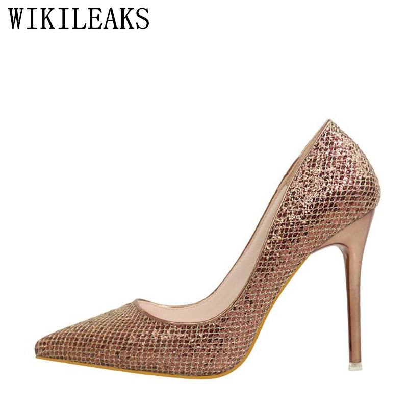 pointed toe Sequined leather shoes woman 11 cm high heels women shoes Bling wedding shoes designer luxury brand stiletto pumps 2016 luxury designer brand pearl nubuck leather women s shoes pumps high heels sheepskin shoes top quality pointed toe shoes
