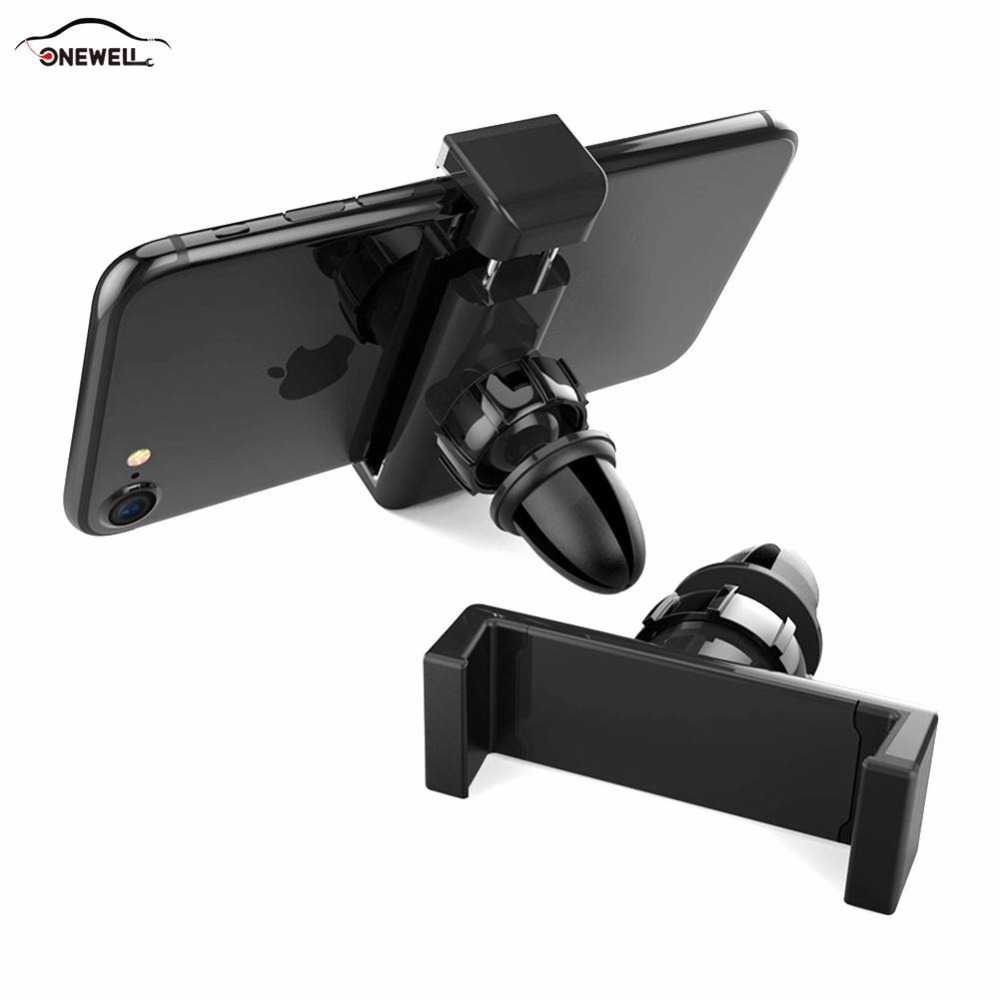 ONEWELL New Navigation Air Vent Car Holder Phone For iphone Samsung Huawei Xiaomi Auto GPS Mobile Phone Holder Accessories