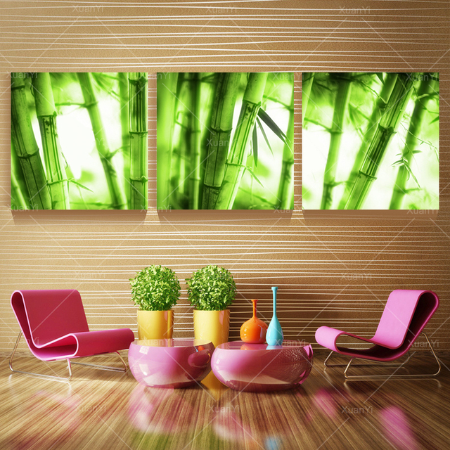 Interieur kunst  3 Stuk Muur Canvas Muur Schilderen Landschap Schilderijen Groen ...