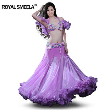 Super Sexy Belly dance Suit Professional Bellydance Dress Wear Big Expansion Full skirt Performance Costume:BRA&Skirt&Arm - DISCOUNT ITEM  13% OFF All Category