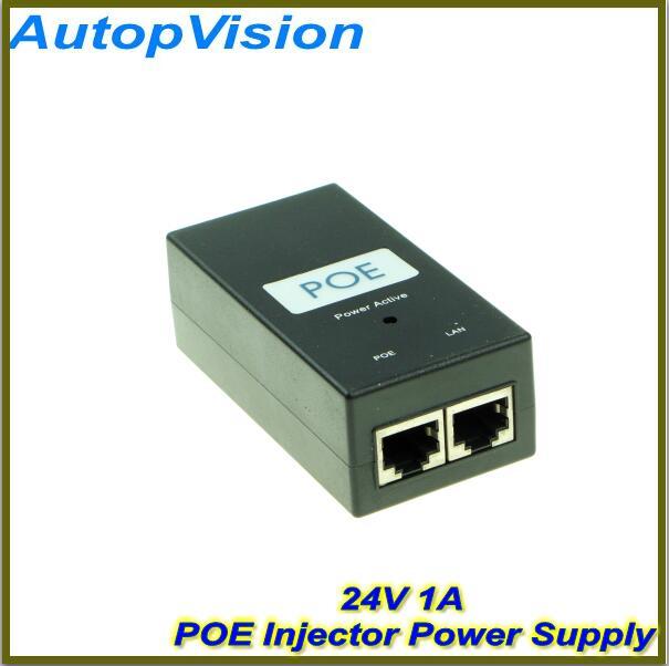 10PCS Free Shipping! Desktop POE Injector 10/100Mbps Power Supply Input 100V-240V Output 24V 1A