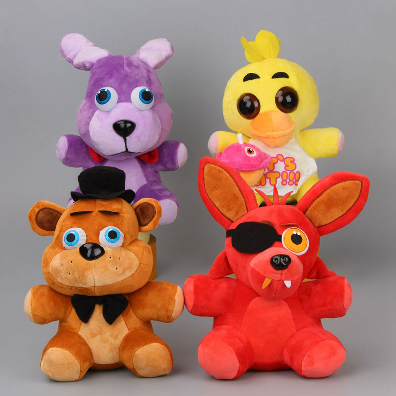 "Five Nights At Freddy's 4 FNAF Freddy Fazbear Teddy Bear Foxy Chica Duck Bonnie Rabbit Plush Toys Doll 10"" 4 Styles to Choose"