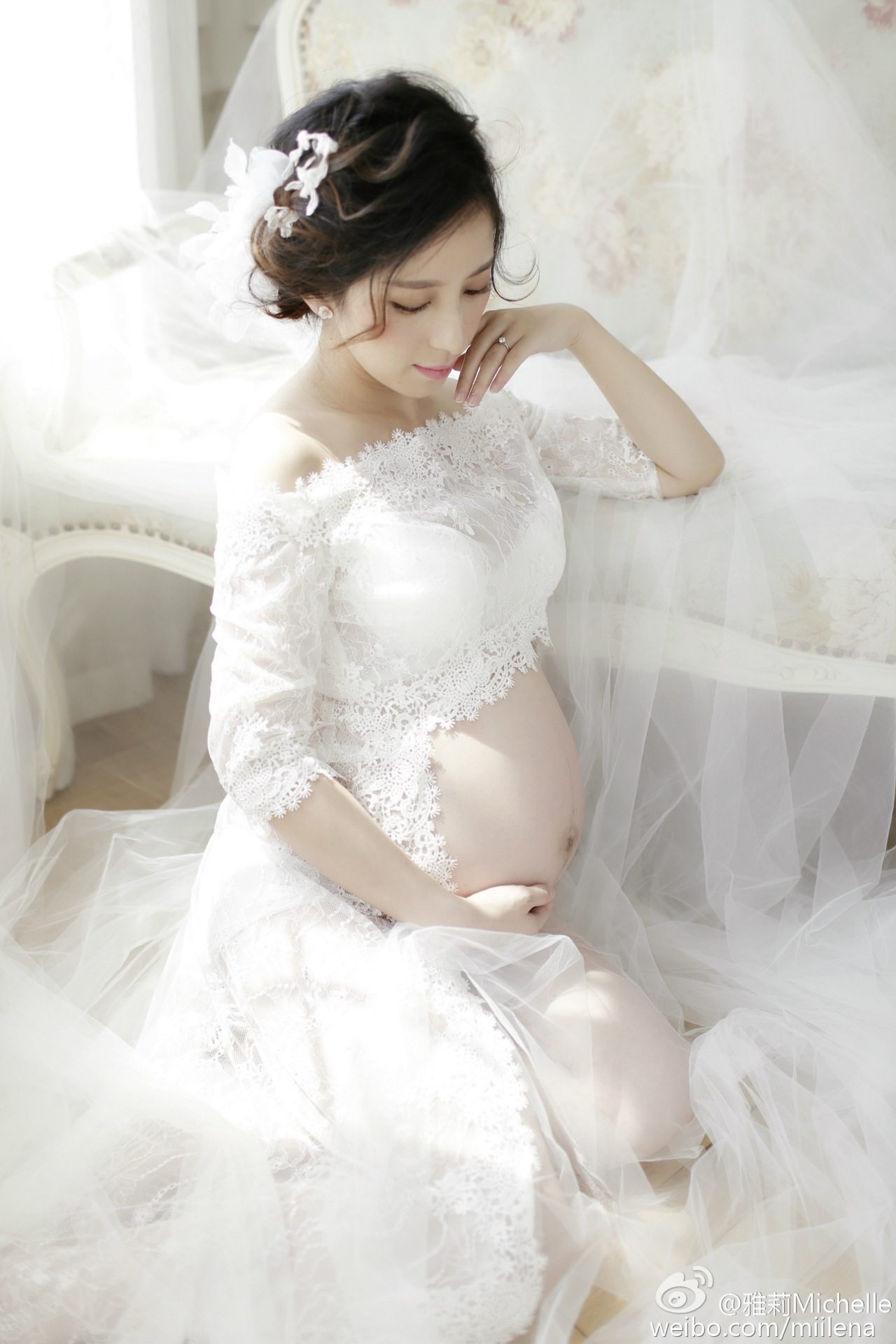 Pregnancy Elegant Fancy Gown White Lace Maternity Photography Props Royal Style Dresses Pregnant Women Photo Shoot Dress Clothes rq elegant maternity dress photography props long dress pregnant women clothes fancy pregnancy photo props shoot q83