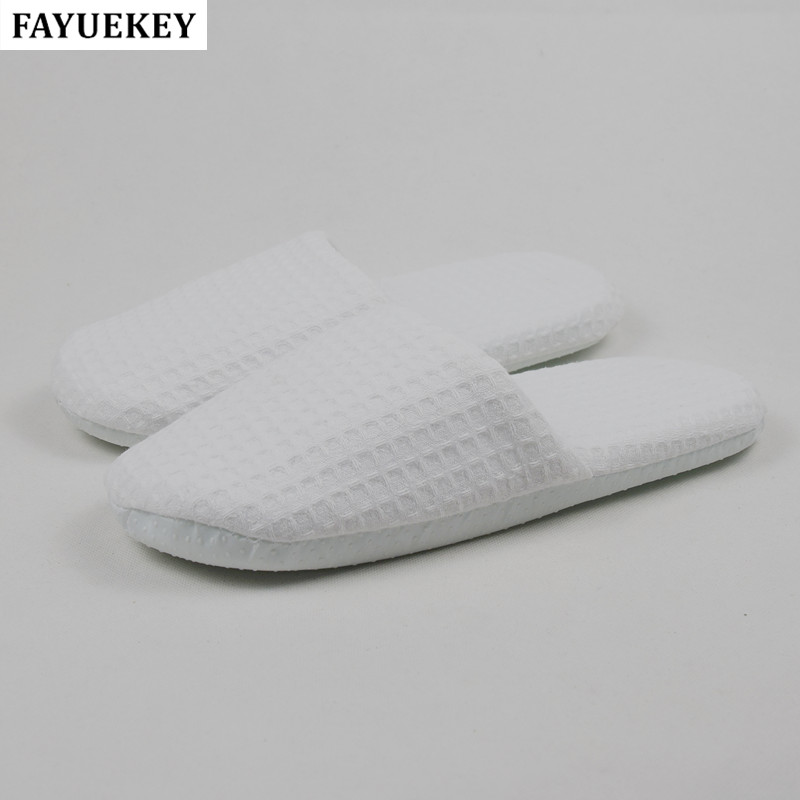 FAYUEKEY 3pairs  lot Hotel Club Supplies Portable Thick Sole Ikke Engangs Tøfler Hjem Gæst Hvid Tøfler Gratis Levering