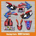 Personalizado Da Equipe de Gráficos & Fundos Decalques 3 M Adesivos Óleo AMS Para CRF CRF250R CRF250 06-09 Motocross Enduro Supermoto