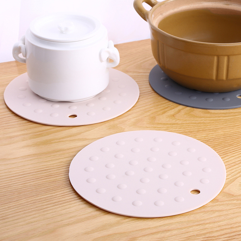 LISM Round Thick Silicone Pot Mat Insulation Pad Kitchen Anti hot Pad Bowl Mat Placemat Table Mat Plate Coaster Dish Mat Home in Mats Pads from Home Garden