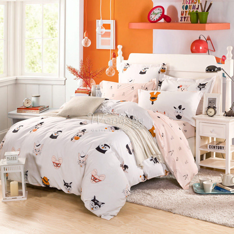 popular modern bed comfortersbuy cheap modern bed comforters lots  - bedding sets pcs duvet quilt fitted cover bed sheet  cotton for kingqueen full