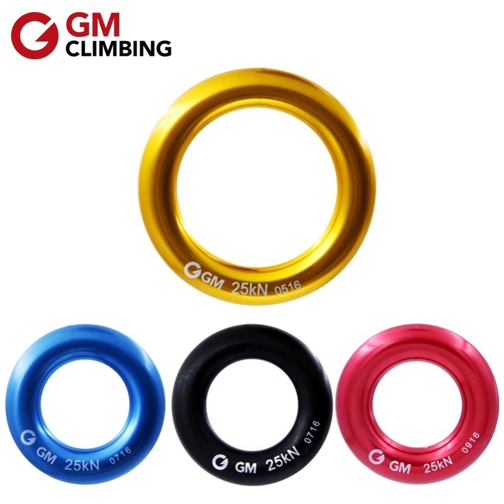 GM KLIMMEN Descender Ring 25kN Grote Rappel Ring Bail-out O-ring Hangmat Rappelling Tuigage Redgereedschappen Reissets