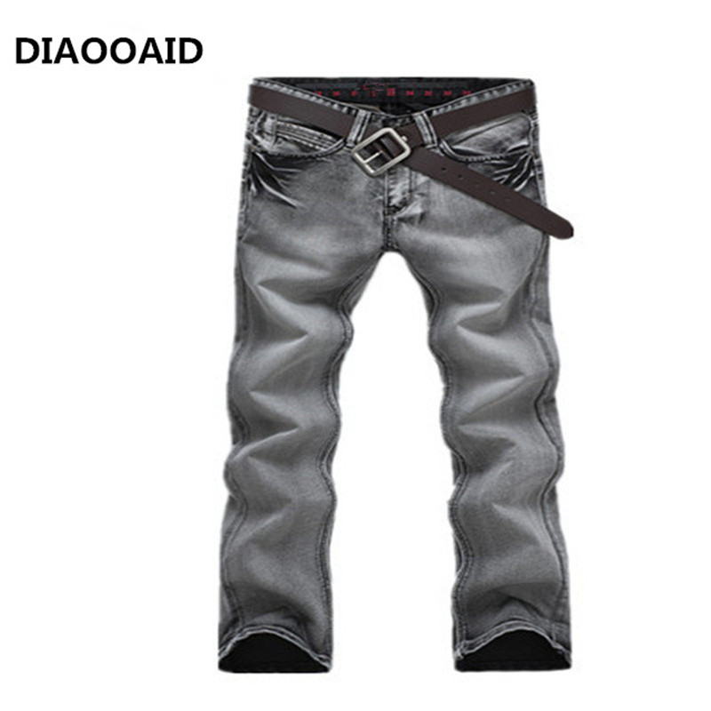 new 2017gray color washed men jeans calssic designer casual Slim Straight men trousers famous brand skinny jeans man Denim pants